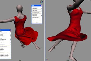 The biggest feature of Maya 8.5 is Nucleus technology and the first implementation is Maya nCloth, which allows artists to create believable cloth-on-cloth simulations more easily. All images courtesy of Autodesk.