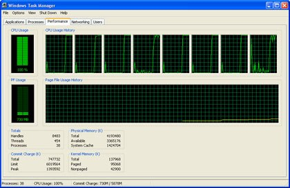 Is that eight processors I see in the Task Manager?! All images courtesy of Bryan Hoff.