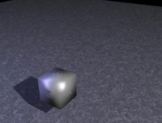 [Figure 1] The zooming cube with no motion blur.