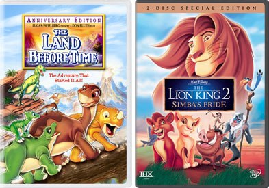 Straight-to-video franchises are cash cows and well-known properties including Land Before Time and The Lion King are among the strongest sellers.