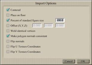 [Figure 1] Import Options dialog box.