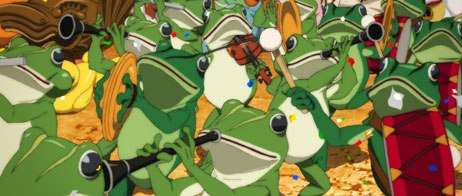 Frogs on parade is one of the recurring dream sequences of Paprika. All images © 2006 Madhouse. Photos courtesy of Sony Pictures Classics. All rights reserved.
