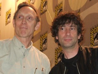 Neil Gaiman (right), who was the special guest of Comic-Con 2007, also promoted LAIKA's stop-motion feature, Coraline, with director Henry Selick.