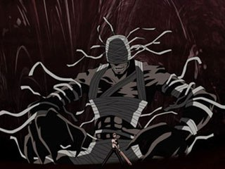 Overall this series is very dark and contains some pretty cool animated fight sequences. There is a ton of detail in the gore and environments. Courtesy of Manga Video.