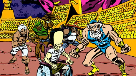 Minoriteam brazenly splashed stereotypical, Jack-Kirby-esque characters across the Adult Swim nation. © &  2006 Cartoon Network.