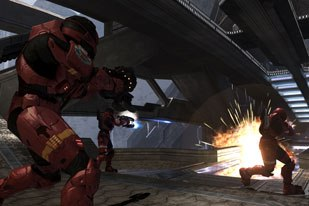 Previous Halo games raised the bar on cinematics. Halo 3 had to deliver big time, which required special work. All Halo 3 images courtesy of Bungie Studios/Microsoft Game Studios.