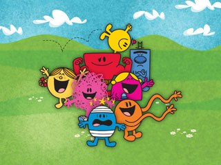 The original Mr. Tickle (lower right) joins a host of old and new characters in the latest incarnation of the Mr. Men franchise. All images courtesy of Chorion.