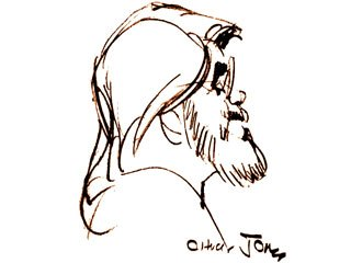 Dave Master, one of America's foremost animation educators, as drawn by his mentor Chuck Jones. Courtesy of Dave Master.