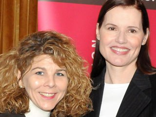 Actress Geena Davis (r) noticed a dearth of female leading roles in family entertainment. Dr. Stacy L. Smith conducted a study on how females are represented, and the results aren't pretty.