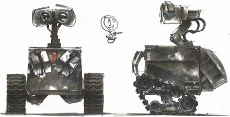 Pixar's Jay Shuster fulfilled a fantasy when he was assigned to design the robotic stars of WALL•E. All images © Disney•Pixar.