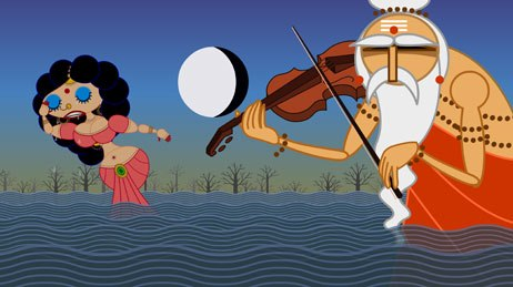 Two bad breakups, a blues song and the Indian epic Ramayana inspired Nina Paley to create Sita Sings the Blues. All Sita images © Nina Paley.