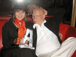 Estonian animator Priit Parn and his wife Olga Marchenko with the Lifetime Achievement Award that Parn received at the opening night ceremony. Unless noted, photos courtesy of Nancy Denney-Phelps.