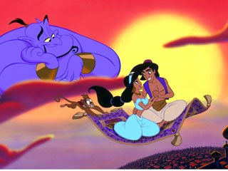 Once ensconced at Disney, Goldberg set about making Aladdin's Genie one of the most memorable personages in the Walt Disney pantheon. © Disney Enterprises, Inc.