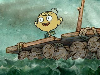 As a child, Thurop Van Orman imagined he was Captain Flapjack, an adventurer traveling the world on a flying motorcycle. Today, Van Orman's Flapjack is on the loose on Cartoon Network. All images © Cartoon Network.