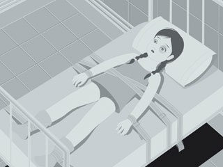 Marie Caillou created a very manga-like story to show a little girl's nightmarish possession.