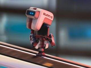 A single scene with the welding robot BURN·E in WALL·E grew into a short film after Angus MacLane pitched the idea to Andrew Stanton. All images © Disney/Pixar.