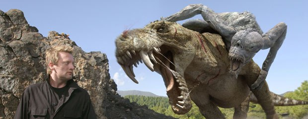The visual effects evolved greatly over the first 13 episodes. The Gorgonopsid (above), which already existed for Walking with Dinosaurs, was remodeled and remade to look scarier and larger.