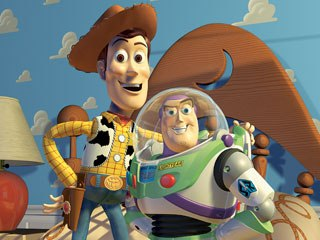 Thirteen years after Tron, the first completely computer-generated animated feature film, Toy Story, appeared in theaters, broke boundaries and demonstrated the full potential of CGI. © Disney and Pixar.