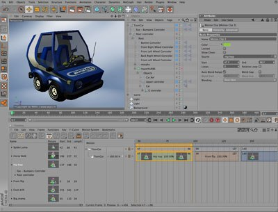 Cinema 4D has a wide variety of geometry types, as shown in this complex vehicle. All images courtesy of Maxon and George Maestri.