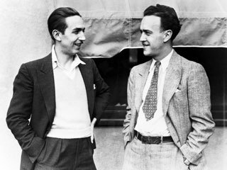 Walt Disney (left) with Ub Iwerks, circa 1932. © Disney Enterprises Inc.