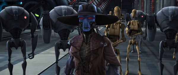 Bounty hunters change the dynamic in season two. New facial rigs have provided more expressive performances. TM & ©2009 Lucasfilm Ltd.
