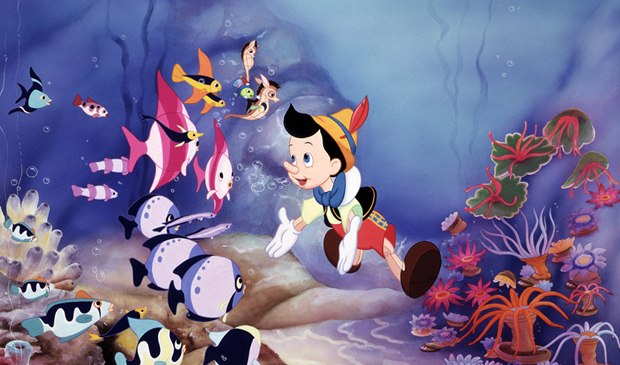 The Pinocchio: 70th Anniversary Platinum Edition DVD/Blu-ray (Walt Disney Home Ent.) offers an emotionally weaker alternate ending in which Geppetto dies and is resurrected. All images courtesy of Disney.