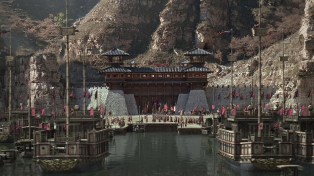 CafeFX was tasked with shots of General Cao's fleet mobilizing and traveling down the Yangtze River to Red Cliff All images courtesy of Magnolia Pictures.