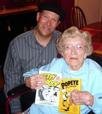 Martin Goodman and cartoon lover Bessie Irene, who turns 106 on Jan. 4. Courtesy of Martin Goodman.