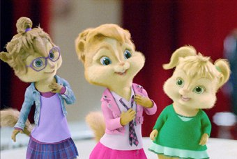 The Chipettes posed a whole new set of animation challenges, particularly the hairdos. All images courtesy of Twentieth Century Fox.