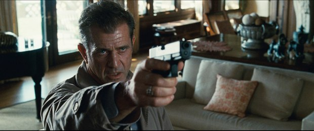 Mel Gibson is back but with more restraint and vulnerability. This shot leads to some gory CG maneuvering with a bullet. All images courtesy of Warner Bros. Pictures.