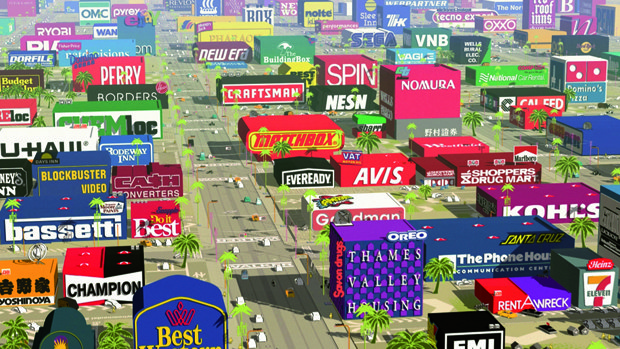 Logorama is a wild and crazy, self-reflexive universe comprised of 2,500 brands. All images © 2009 H5.