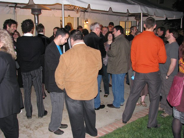 The AWN/Acme Filmworks party was overflowing with a who's who of the animation community.