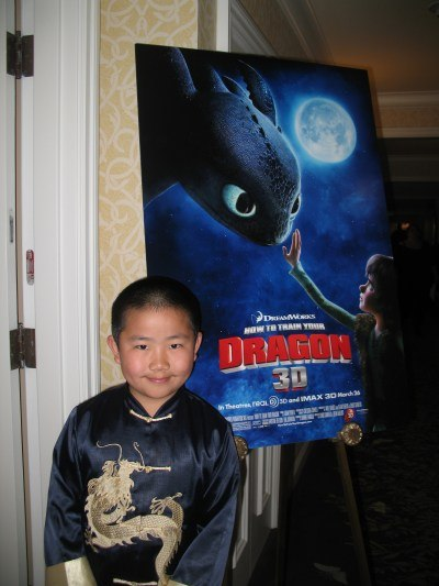 Perry at the How To Train Your Dragon press junket