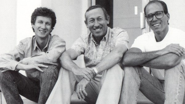 Peter Schneider, Roy Disney and Jeffrey Katzenberg take a break from a story retreat in the early '90s. All images courtesy of Disney.