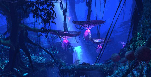 Avatar VAD (Rainforest Gorge): virtual environment modeled and textured in LightWave 3D and displayed in a realtime Open GL pipeline using MotionBuilder. Images All images © Twentieth Century Fox.