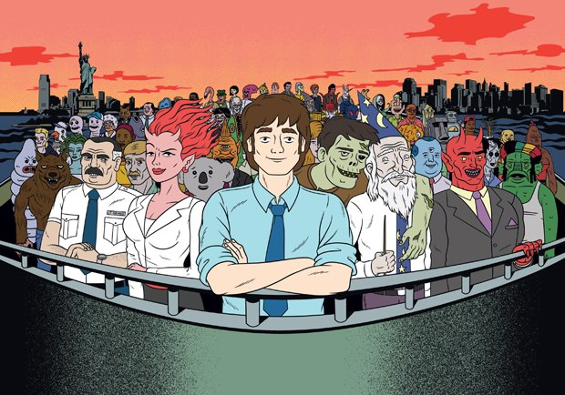 Ugly Americans is an outgrowth of the 5-On webisode, in which monsters are normalized. All images courtesy of Comedy Central.