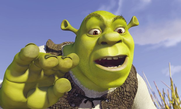 The first Shrek didn't have global illumination and he couldn't make his ears vibrate when making trumpet sounds. All images courtesy of DreamWorks Animation.