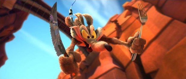 Wile E. Coyote in CG and 3-D