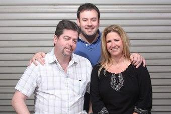 Simon Brett (l-r), Michael Lancaster and Amy Beaman.