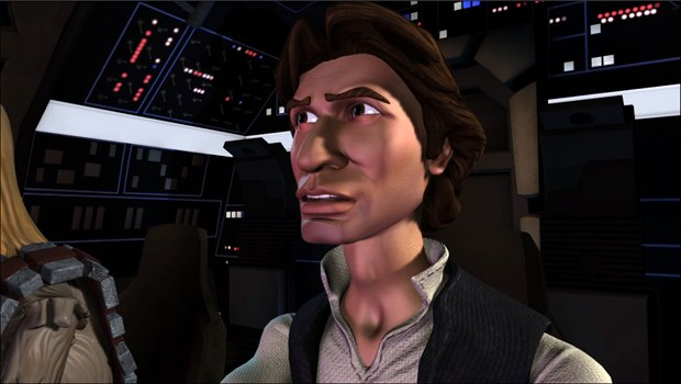 Han Solo from DAVE School's award-winning animated short Star Wars: The Solo Adventures. Images courtesy of DAVE School.