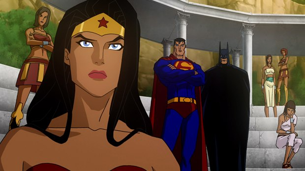 Montgomery and crew had to balance a large cast of superheroes in Superman/Batman: Apocalypse.
