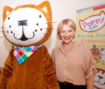 Poppy Cat and Joanna Page