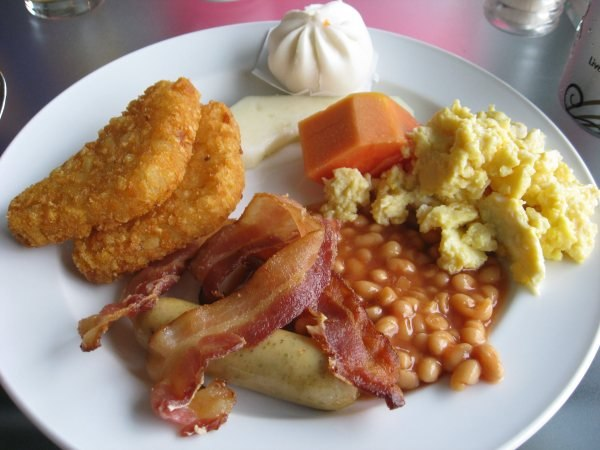 A fine breakfast. May the carbs and saturated fat be with you!