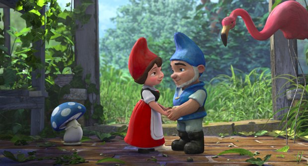 The high-art of Shakespeare meets the low-art of the garden gnome. All images courtesy of Touchstone Pictures.