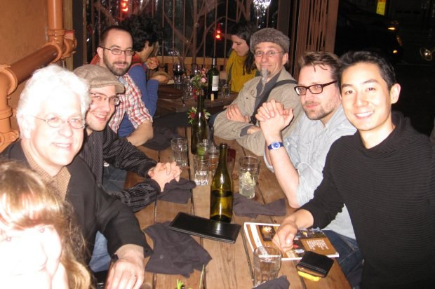 Dinner at Gracias Madre - (from left to right) Ron Diamond, Max Lang, Saschka Unseld, Geefwee Boedoe, Jakob Schuh, Alex Woo (with apologies to Sara Diamond in the bottom left corner)