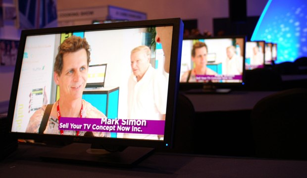 Mark Simon interviewed on NATPE TV. Images courtesy of Simon.