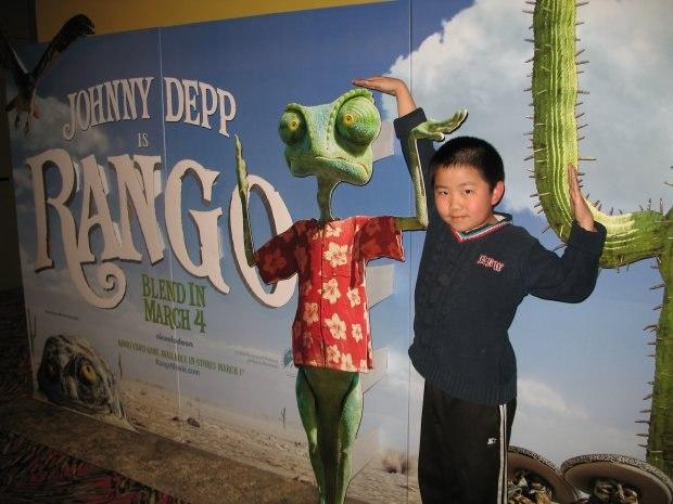 Perry Chen at Rango press screening (photo by Zhu Shen).