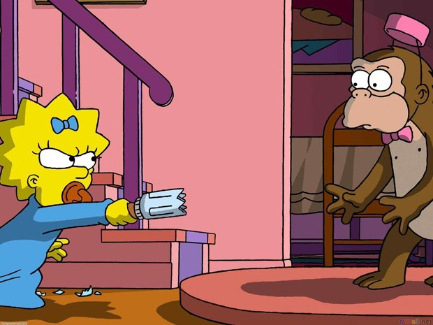 Audiences were surprised when Maggie Simpson pulled off feats of unexpected sophistication.
