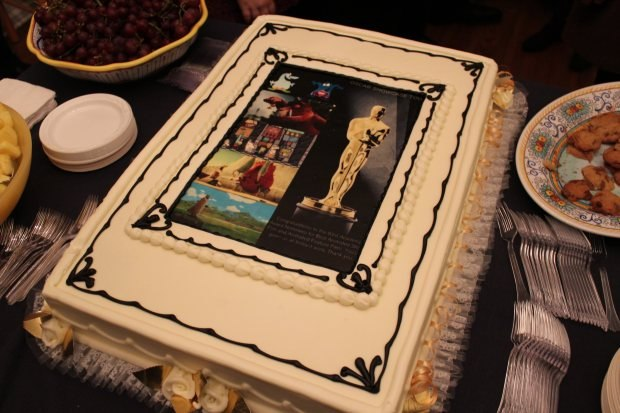 The famous Nominee Cake - 5 films, 5 images, all edible.