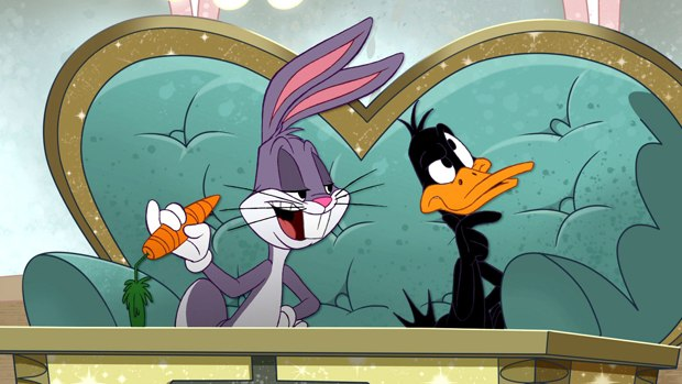 Bugs and Daffy are unflappable and flappable roommates. © Warner Bros. Ent. Inc.
